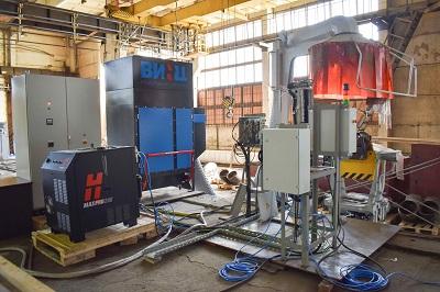 5 комплексов манипуляторов для установок плазменной резки отводов в ближайшее время будут испытаны на площадке завода