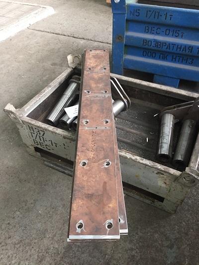 Изготовлены брони для пресс-ножниц